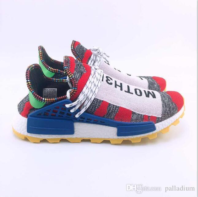 huge selection of d1898 932f6 Pharrell Williams Solarhu human race sneakers Shoes Tennis Hu V2 Human Race  Sports Casual Shoes Hip Hop Running Hiking Sneakers 36-47