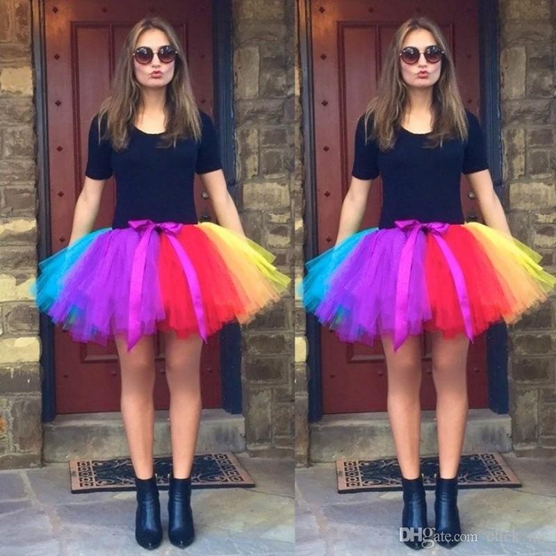 7e01e28d5c62 Compre Enagua De Colores De Primavera Verano Para Vestidos De Novia  Accesorio De La Boda Falda Corta Falda De Tul Tutú Listo Para Usar Vestido  De Novia A ...