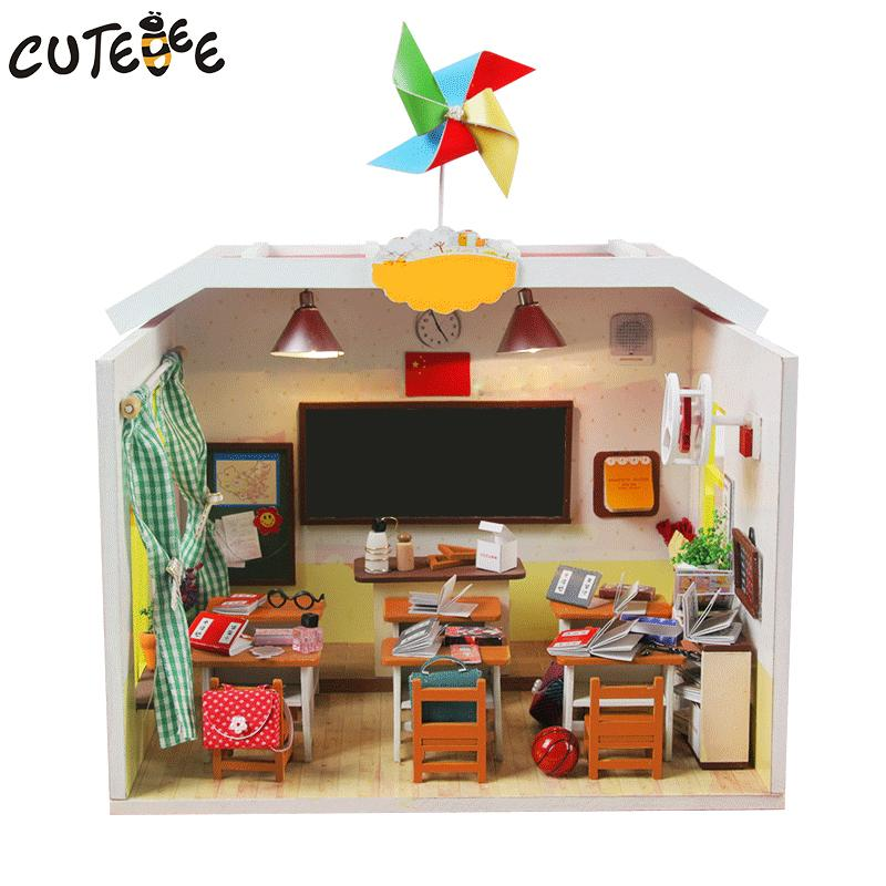 Cutebee Doll House Miniature Diy Dollhouse With Furnitures Wooden House  Toys For Children Birthday Gift Home Decor Craft M017 Dollhouse For Girls  Doll ...