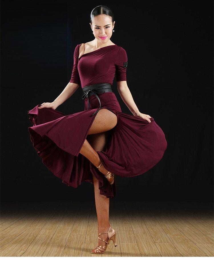 sports shoes cbdfd aed6e vestito da ballo latino vestito di salsa donne abbigliamento da ballo  latino concorso vestito samba costumi frangia abiti da ballo latino tango  ...