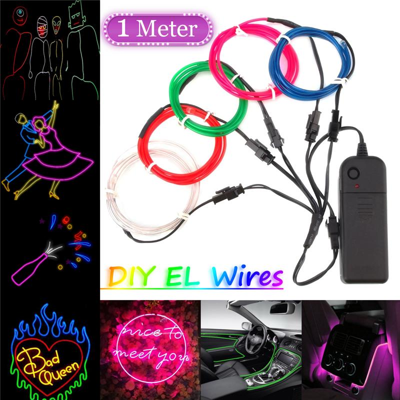 Led Lighting Best Price 5pcs Colorful El Wire Halloween Terrified Mask Flashing Led Neon Light Mask For Wedding Masquerade Birthday Party