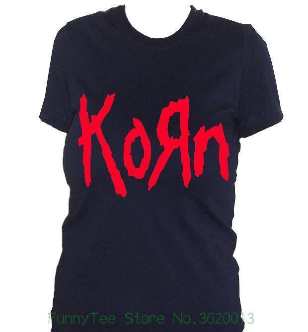 Musicale Fm10 Groupe Metal Femme Tee Musique Cadeau Personnalité Nu Idée Shirt Korn fgbI7yY6v
