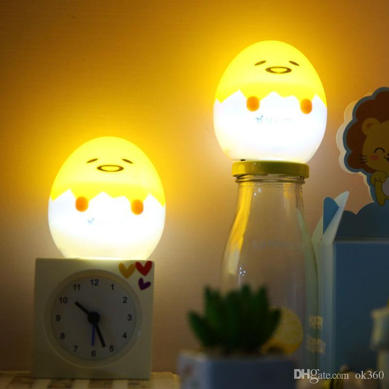 Anime Gudetama Oeuf Lumière Up Enfants Jouet Paresseux Oeuf Jaune Gudetama Sommeil LED Nuit Lumière Mignon Décorer Lampe De Table