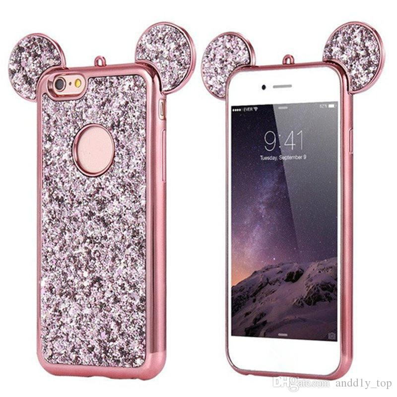 Bling Paillettes for iPhone X TPU Case Cover Glitter Shell TPU Case for iPhone 8 Plus 6S 7 Plus for Samsung S8 Plus