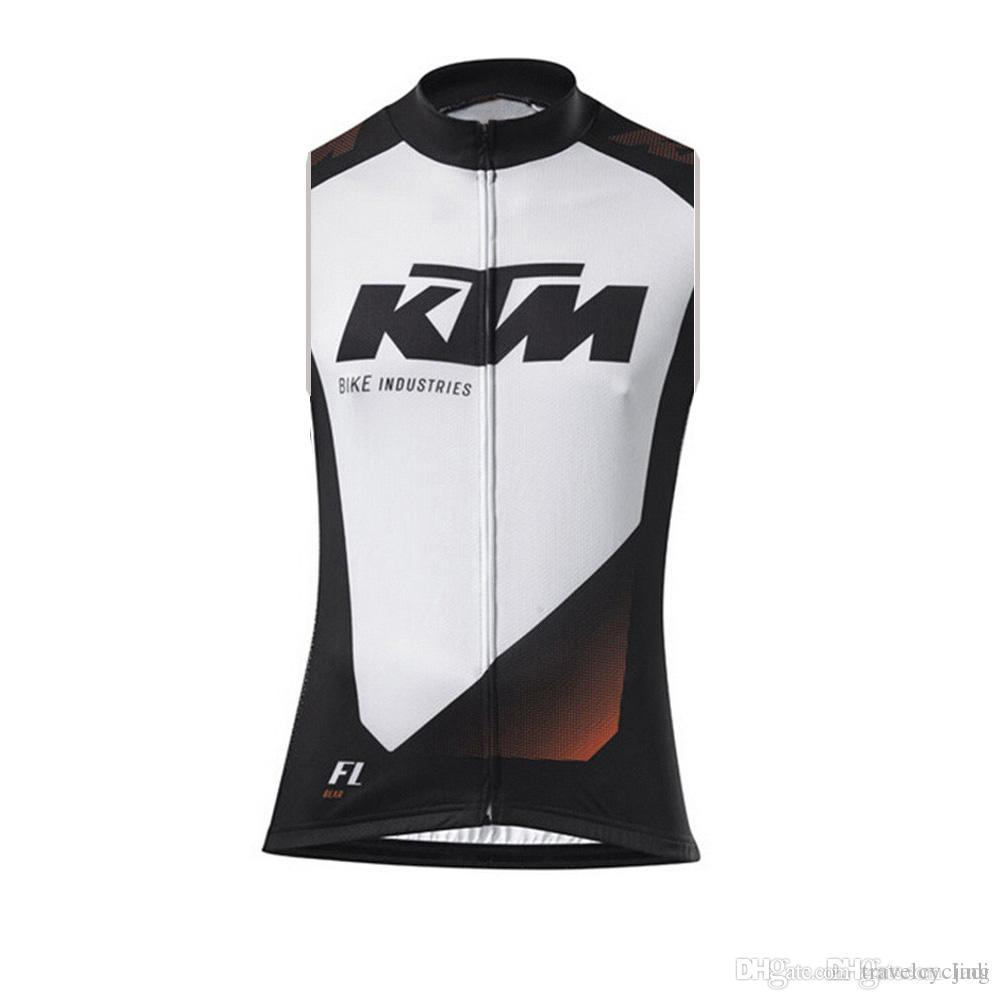 f349f98fa KTM Team Pro Cycling Jerseys Vest Summer Sleeveless Bicycle Clothing Ropa  Ciclismo Bike Clothes Cycling Gilet KTM Cycling Jersey Bike Online with ...