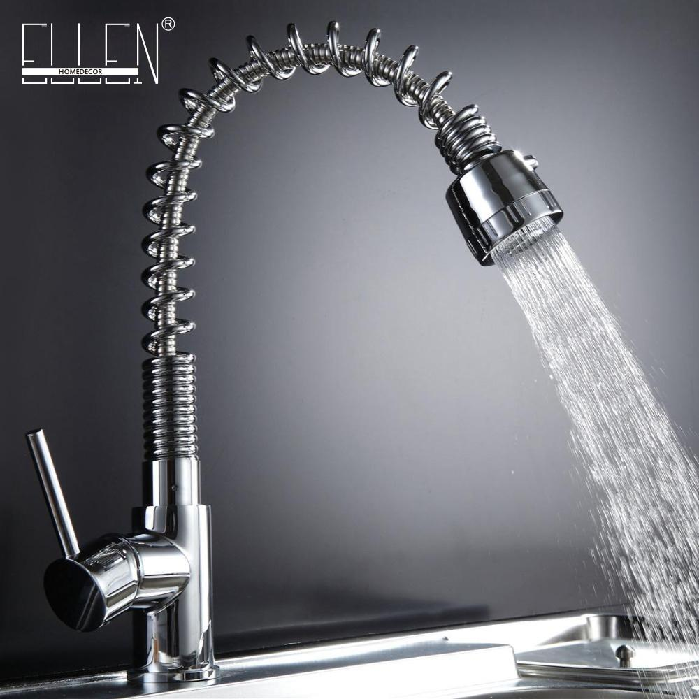Online Cheap Kitchen Sink Tap Pull Out Solid Brass Kitchen Mixer ...