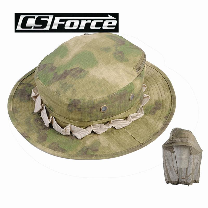 c79784ce24d Cs Force Mosquito Insects Prevent Fishing Cap Hat Camouflage Boonie ...