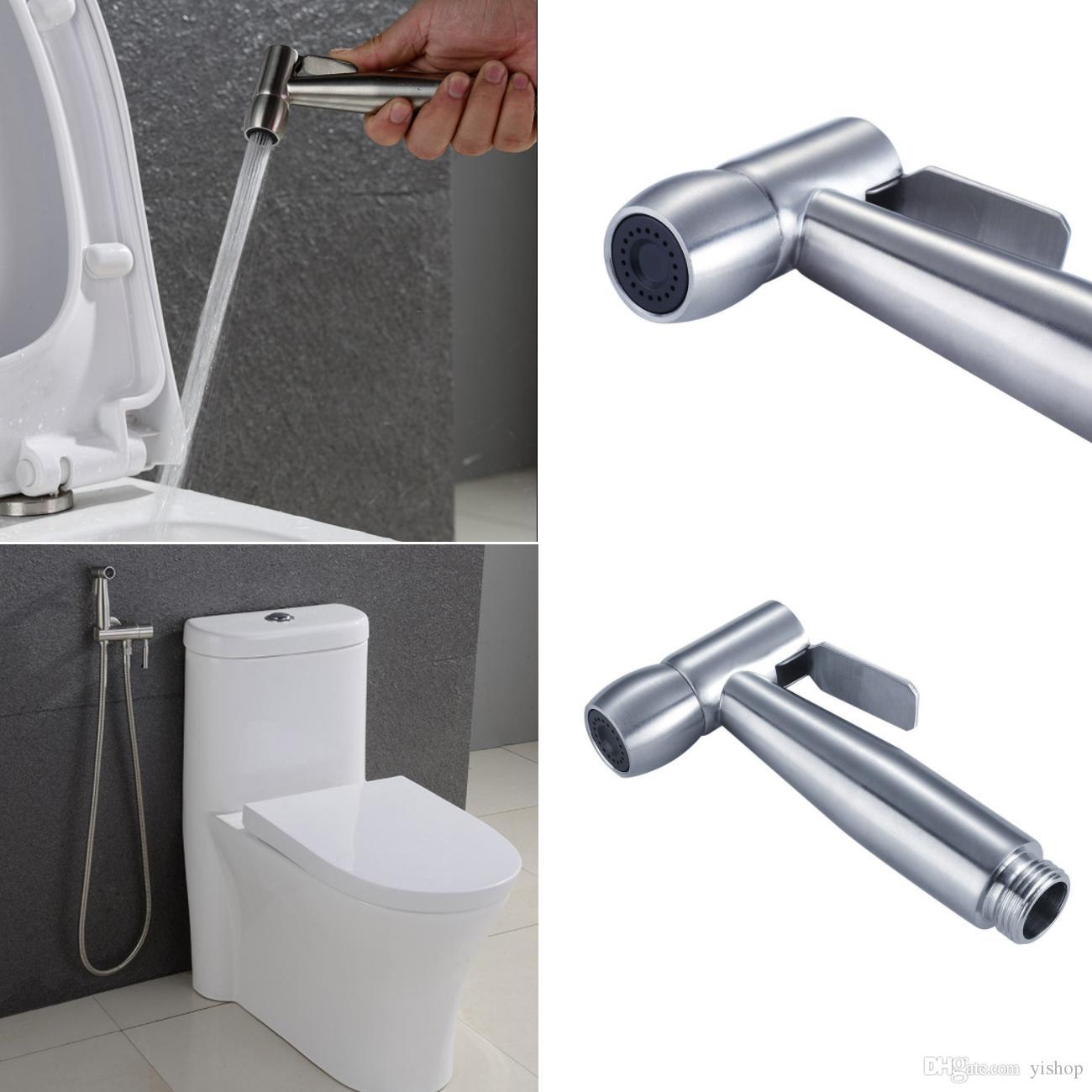 Großhandel Badezimmer WC Bidet Spray Handduschkopf Mit Wand Halter ...