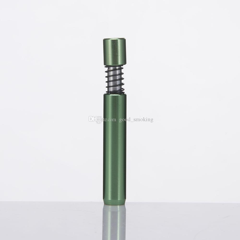 DHL 2.2inch Better Bat Metal Pipes Aluminum Metal Smoking Accessory Incense Smoke Tobacco Pipes Quartz Banger
