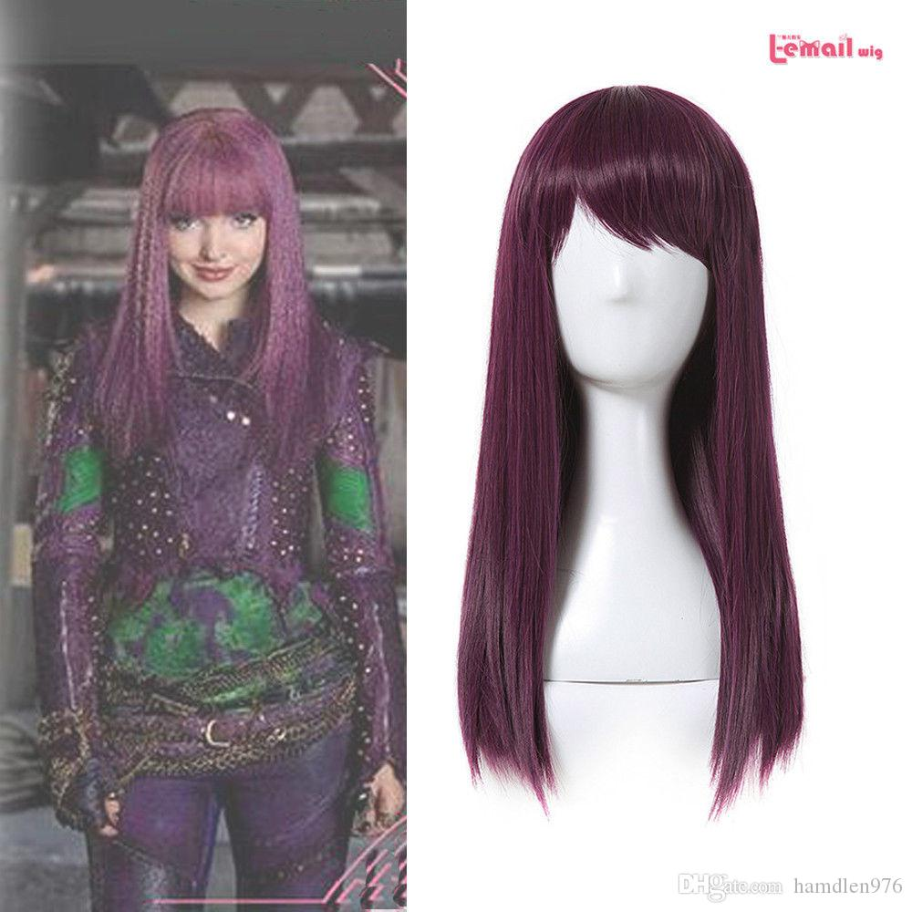 ≫≫≫Purple Red Straight Cosplay Wig Womens Halloween Party Wig Full Cap Wigs  Full Cap Wig From Hamdlen976 92e95228c