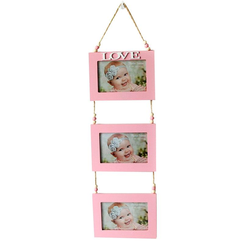 Multi-frame Photo Frame Hanging Wall Bois Picture Frames Para Family ...