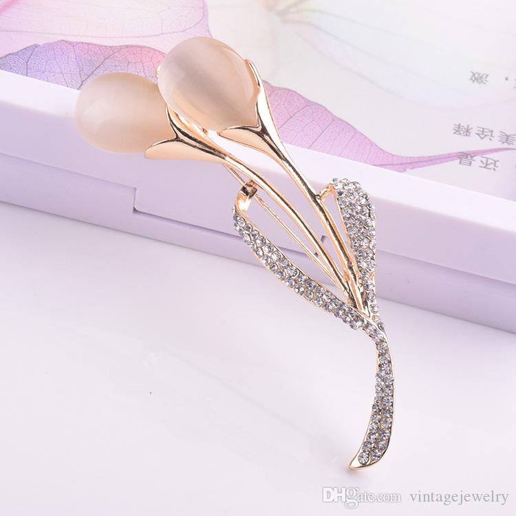 Stylish Individuality Flower Brooch Bridal Wedding Corsage Dress Accessories Gift for Women YP3386