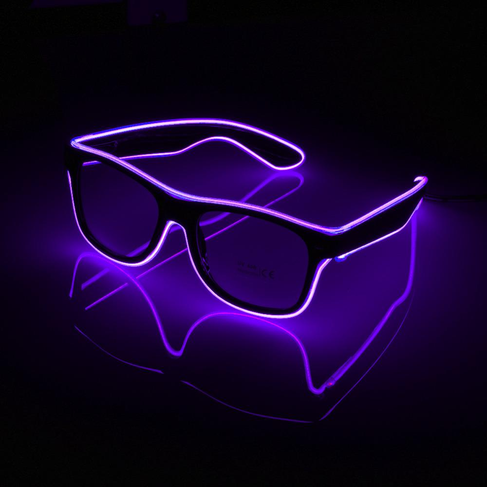 Online Cheap Flashing Glasses El Wire Led Glasses Glowing Party ...