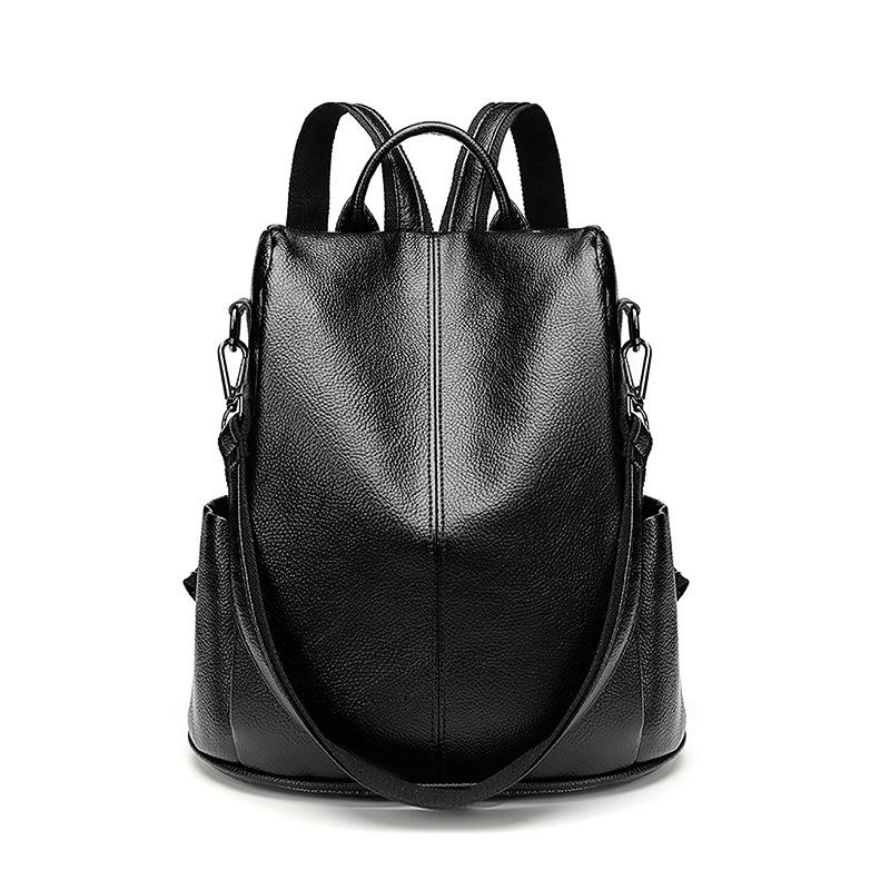 45de5c114c New Women Backpack Genuine Leather Bags Famous Brand Small Backpacks For Teenage  Girls Leather Fashion Backpacks Female New C754 Camping Backpack Backpacks  ...