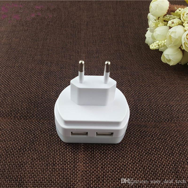Multifunktions-LED-Licht Nachttisch 5V Energiesparendes Nachtlicht Lichtsensor Schlafzimmer Dual USB Wall Plate Ladegerät US / UK / EU-Stecker Q0322