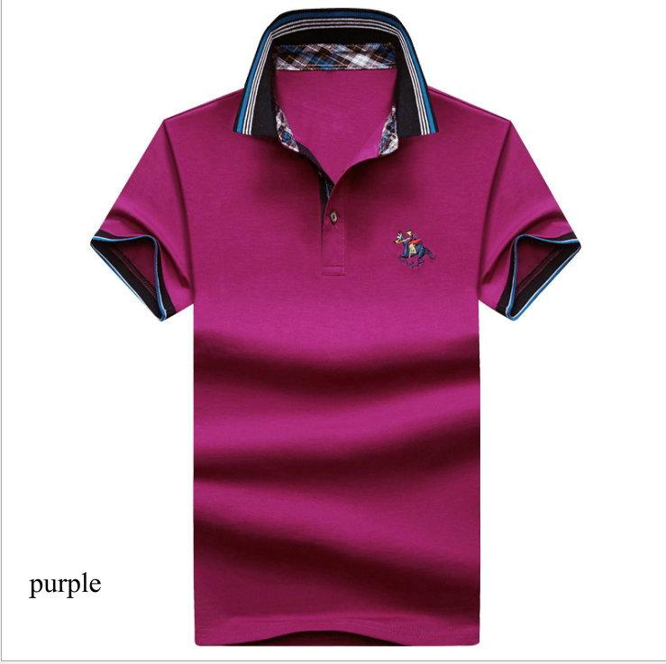 d3404723 M-4XL Classic Fashion Polos Collar T-shirt Short Sleeve for Men 2018 Hot Summer  T-shirt Cotton Casual Business Golf T-shirts Polos Men T-shirt Business ...