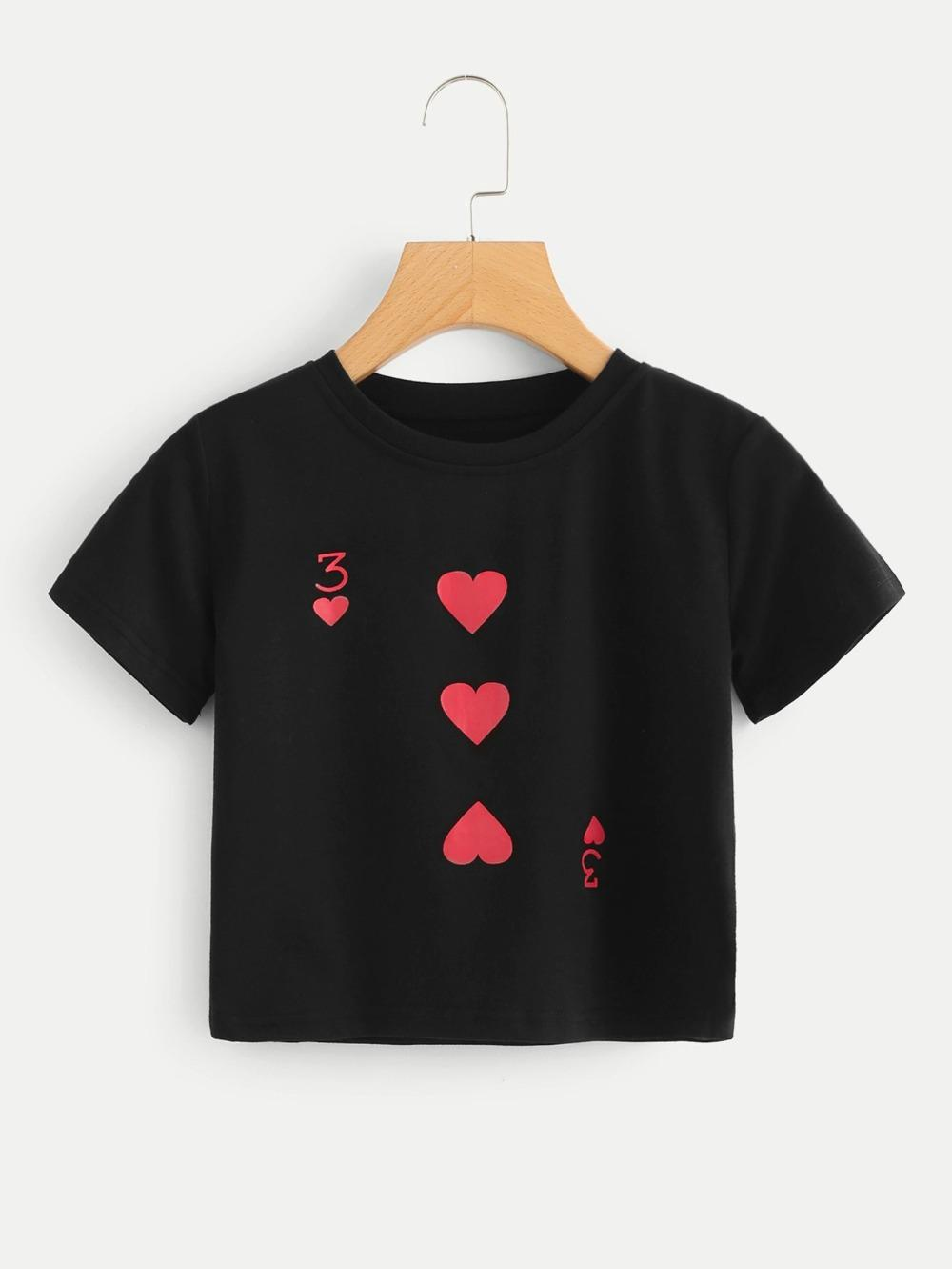 ef147fd2e173 Red Peach 3 T Shirt Funny Poker Funny Graphic Women Fashion Tees Short Sexy  Aesthetic Tumblr Tops Grunge Goth Vintage Shirt Funny T Shirt Prints Funky T  ...