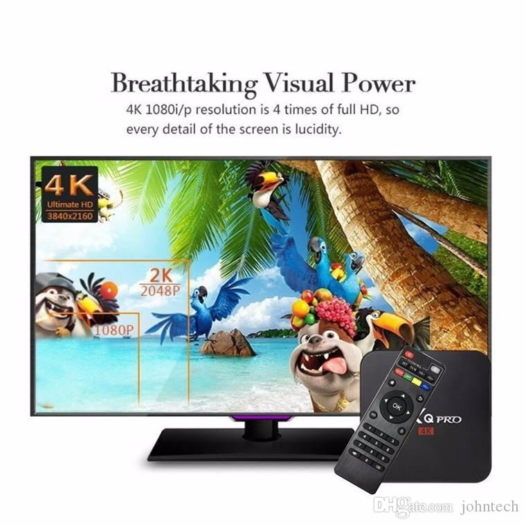 RK3229 Amlogic S905W MXQ Pro Android 7.1 TV Box 1GB 8GB 4K Quad Core WiFi Streaming Media Player Smart Boxes x96 mini