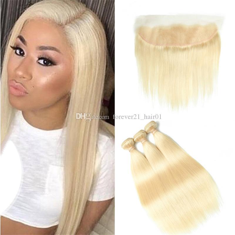 2018 9a Blonde Hair Extensions Indian Straight Human Hair Bundles