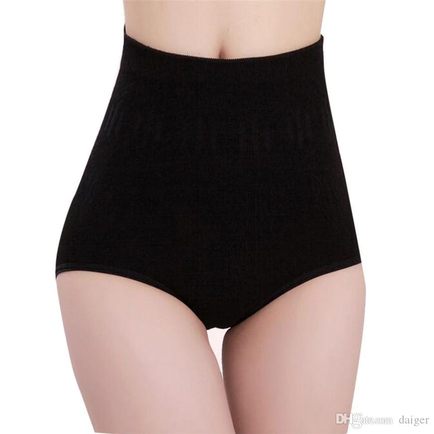 8227058a40 2019 Ladies Underwear Womens High Waist Tummy Control Body Shaper Briefs  Slimming Pants Black From Daiger