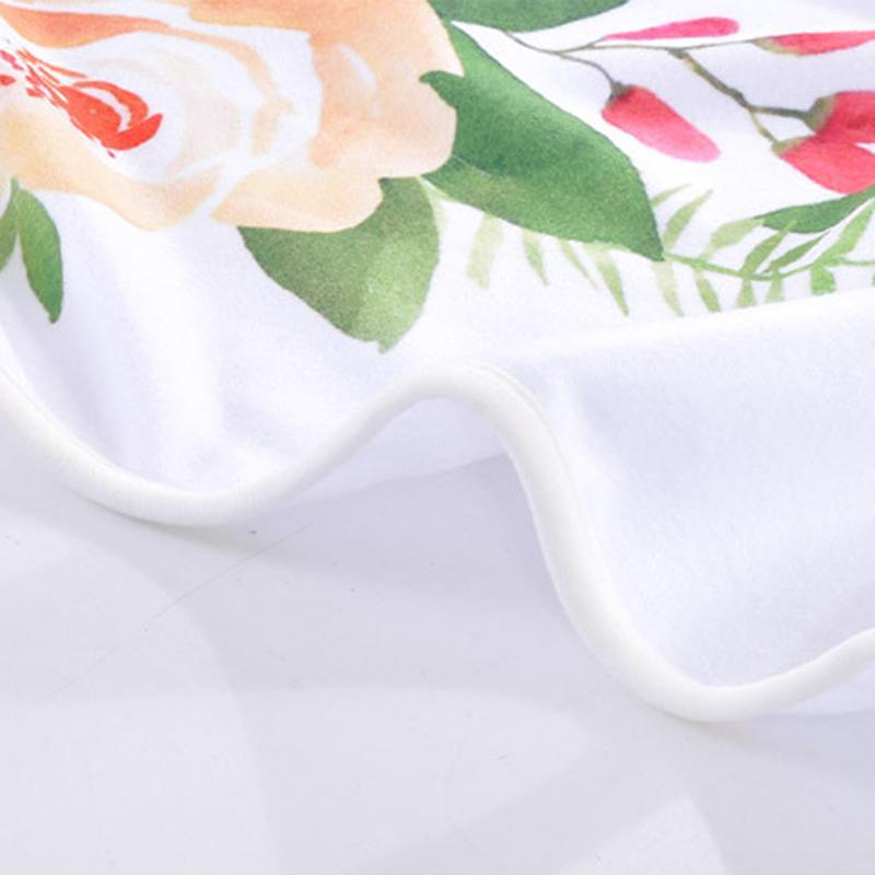 Birthday Date Baby Blanket Polar Fleece Baby Wrap Flower Garland Photo Background Blanket Gift Wrap for Baby DOM1061029
