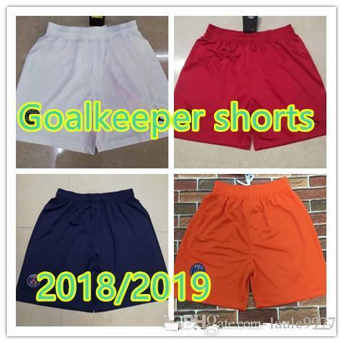 0aaa1c470b5 2018-19 Goalkeeper Shorts PSG  7 Mbappé Home Soccer Shorts Thai ...