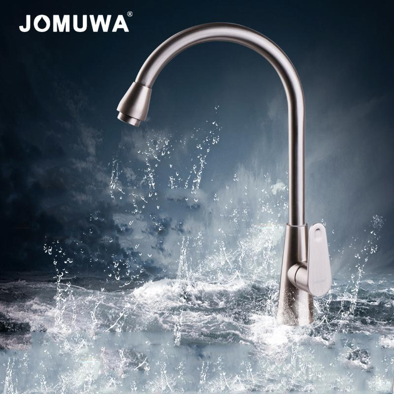 JOMUWA Kitchen Faucets 360 Degree Rotation Only Cold Water Deck ...