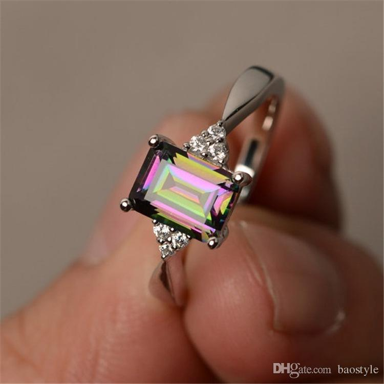 diamond colorful ring stone ful inlaid women product baostyle silver rainbow mystic from topaz christmas cut wedding prop rings gem engagement jewelry birthday s princess