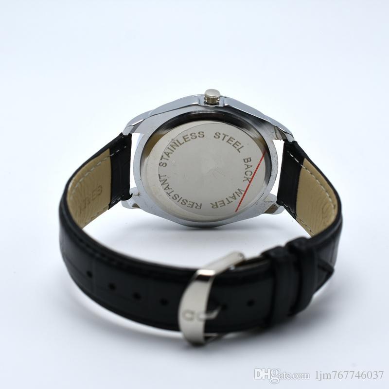 La mejor calidad de lujo 40mm famosa AAA marca correa de cuero de cuarzo reloj de pulsera de moda analógico automático fecha hombres vestido reloj reloj masculino relojes