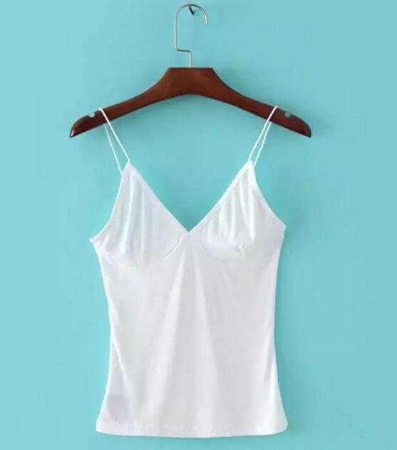 Sexy V neck Slim fit Tight Camis 2016 New Brandy Melville crop Top Camisetas Tank Vest Striped Line Short Tee
