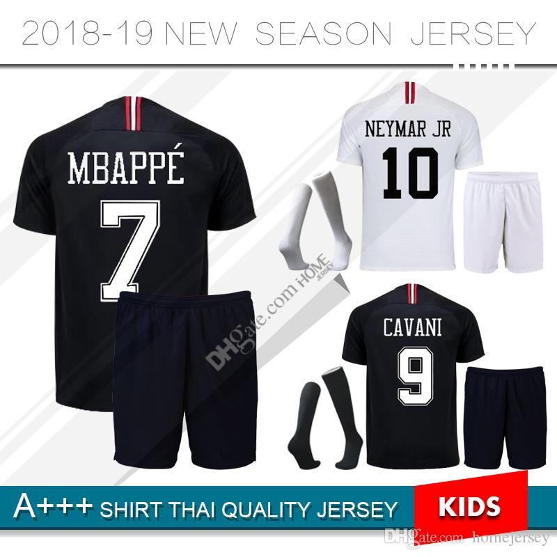 49706cd7e 2019 Kids Champions League Psg Soccer Jersey Kit Paris 18 19  7 Mbappe  Black Maillot De Foot 2018 2019 CAVANI PRE MATCH Child Foot Uniform From  Homejersey