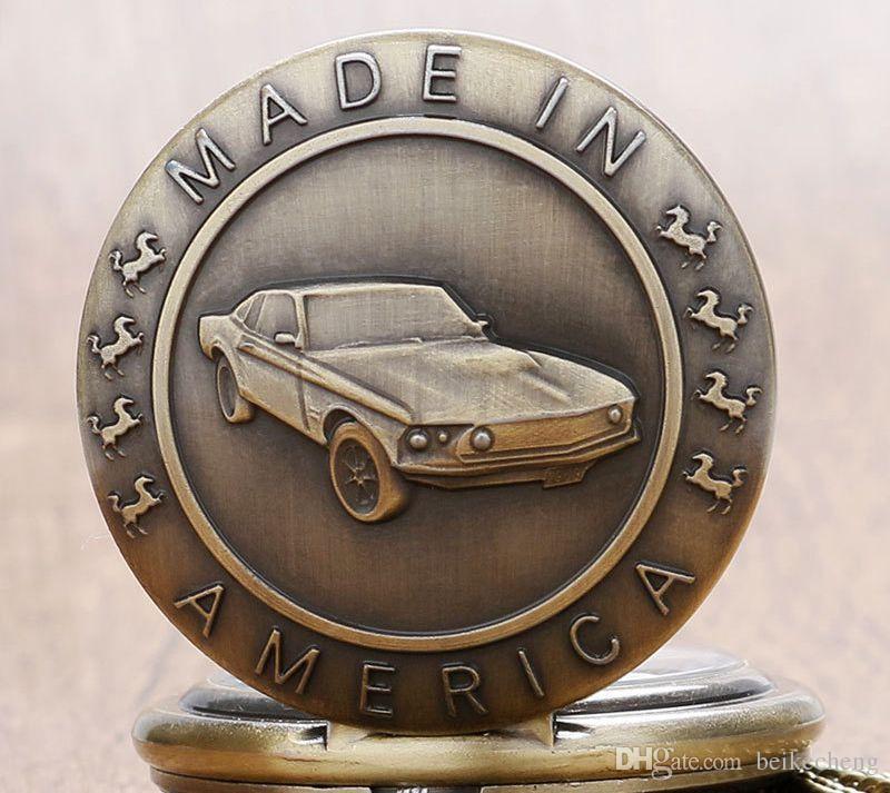 Toptan 50 adet / grup Bronz Araba Cebi vintage cebi Erkek Kadın antika modelleri Tuo masa izle PW150