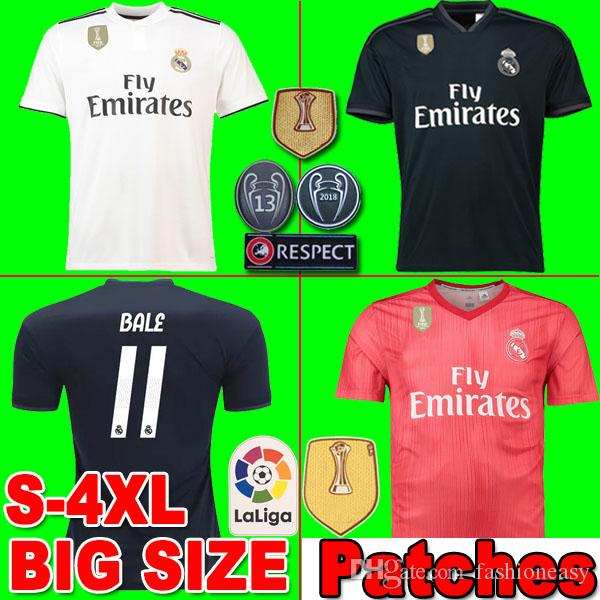 2019 2019 Real Madrid Plus Size Soccer Jersey ASENSIO ISCO BENZEMA MODRIC  VINICIUS JR Football Kit Shirt 18 19 Sweatshirt Big Size Men Camisetas From  ... bfd8f896e
