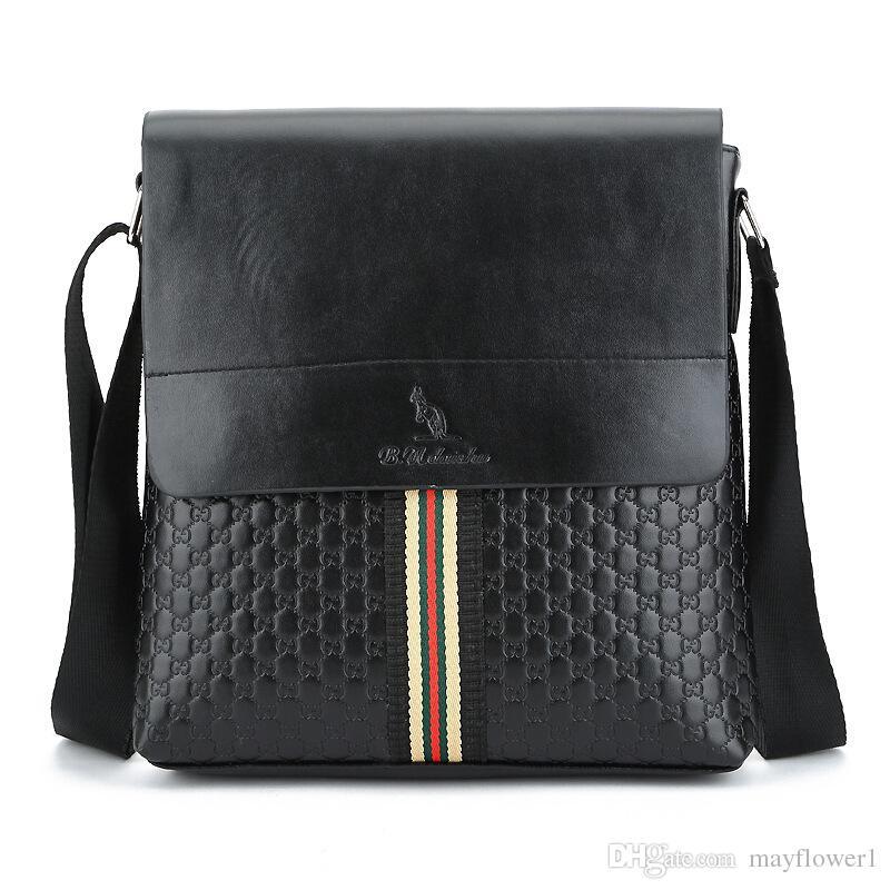 Famous Brand Classic Design Leather Men's Messenger Bags Promotional Casual Business Man Bags Shoulder Bag Briefcase