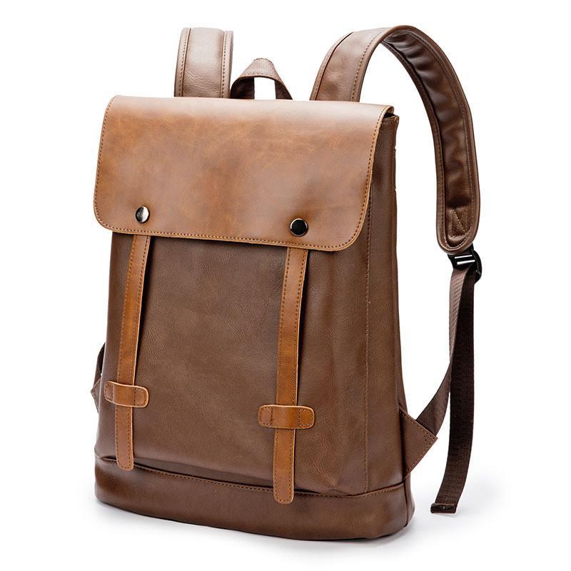 8701f533d4 HENGSHENG New Men S Backpack Tide Bag Retro Backpack College Wind Student  Bag Casual Leather Water Repellent Design Wheeled Backpacks Leather  Backpacks From ...