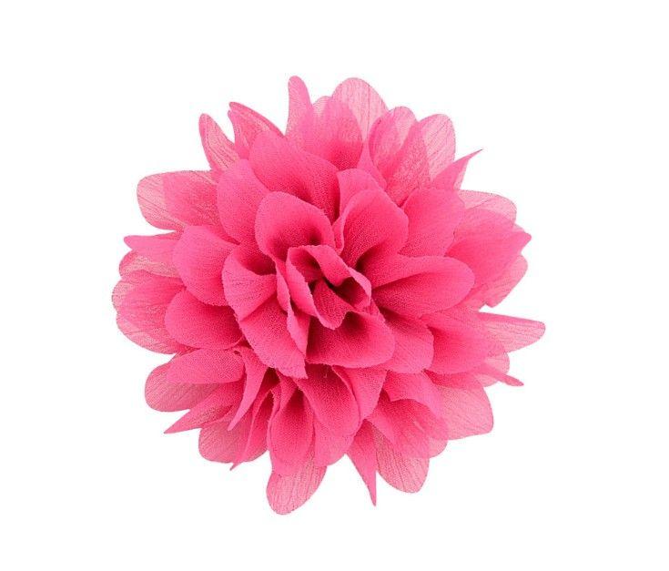 Детские заколки для волос 3.5 дюймов девушка шифон цветы заколки для волос аксессуары бутик ленты цветок с зажимом Детская мода заколки