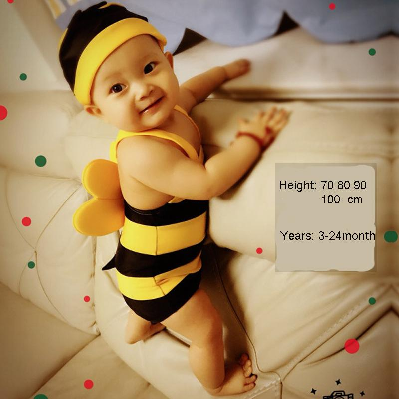Baby Swimwear 70-100cm Bee Cartoon Baby Swimsuit Girls Boy swimwear Bathing Suits For Girls Toddler Infant Piece kids one piece
