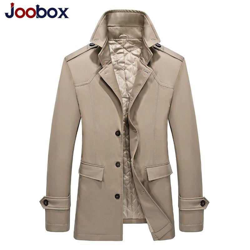 9c62ed8f49456f Herbst Winter Trenchcoat Männer Fitness lange Jacken gepolsterten Baumwolle  Stehkragen Herren Mantel Casual Mäntel Marke M-3XL Größe