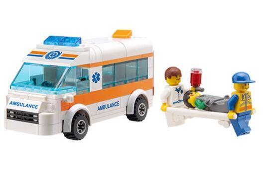 Kazi 85010 199pcs Ambulance Enlighten Blocks DIY Educational Toys For Kids  Rescue Team Educational DIY Toys for Kids