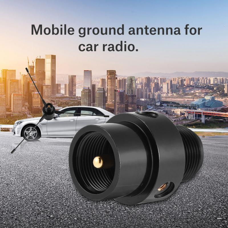 New Black RE-02 Mobile Antenna Ground UHF-F 10-1300MHz For Mobile Car Radio  Two-way Transceiver Antenna Ground For Base Station