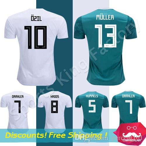 31a77c2ed5f 2019 Germany Soccer Jersey 2019 Green Germany Hummels Reus Ozil Draxler  Kroos Muller Jerseys 18 19 Germany Shirts From Percent101