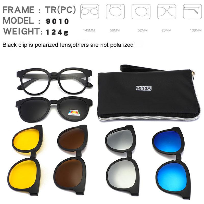 f7142439e3 Clip On Vintage Polarized Sunglasses Women Men Magnetic Driving Eyewear  Optical Frame Sets 5+1 Sun Glasses 2018 Lunettes Oculos Sunglasses At Night  Lyrics ...