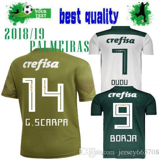 Compre 2018 PALMEIRAS Third Away Camisolas De Futebol Kit G.SCARPA Home  DUDU G.SCARPA B.HENRIQUE MOISES Verde Afastado Branco 18 19 Jersey Camisas  De ... 26270b0ff2b0e