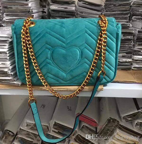 AAAAA Qaulity 26cm 443497 Marmont Small Chevron Velvet Shoulder Bag,Sliding chain strap Antique hardware,Silk Lining, Come with Dust Bag