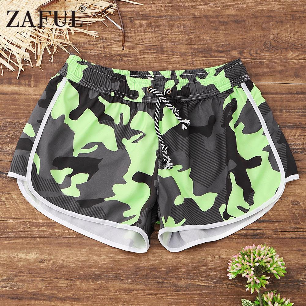 845e25c0eb84f 2019 ZAFUL Women Sexy Yoga Shorts 2018 Drawstring Camo Beach Shorts Running  Gym Sport For Workout Athletic Fitness Leggings From Dinaha, $40.35 |  DHgate.Com