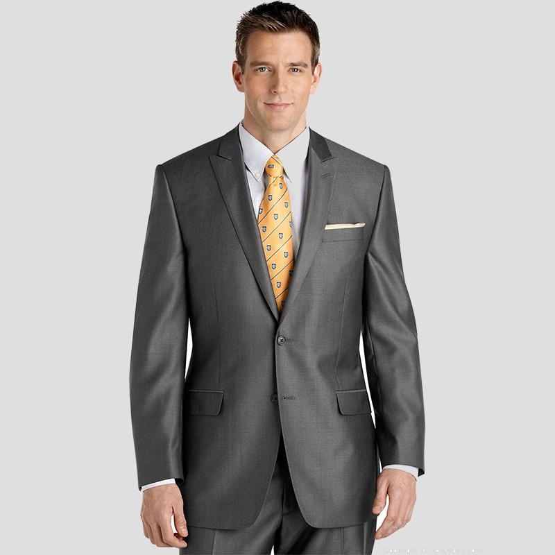 317f5e30a6 2019 Latest Coat Pants Designs Gray Men Suits Wedding Groom Suit ...