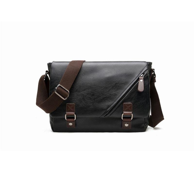 fa3b3ff15c3 2018 New Fashion Business Leather Crossbody Bags For Men Satchels Messenger  Bags Hot Sale Male Casual Black Travel Shoulder Bag Handbags Brands Womens  ...