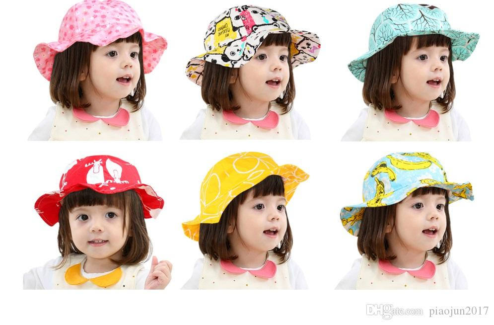 e0eda9e1c8a 2019 Toddler Infant Kids Sun Cap Summer Outdoor Baby Girl Boy Sun Beach  Cotton Hat 1 5 Years From Piaojun2017
