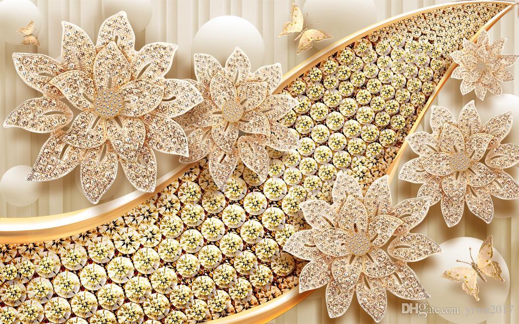 Rideau 3D de bijoux de luxe européens pour la fenêtre 3D personnalisée de salon