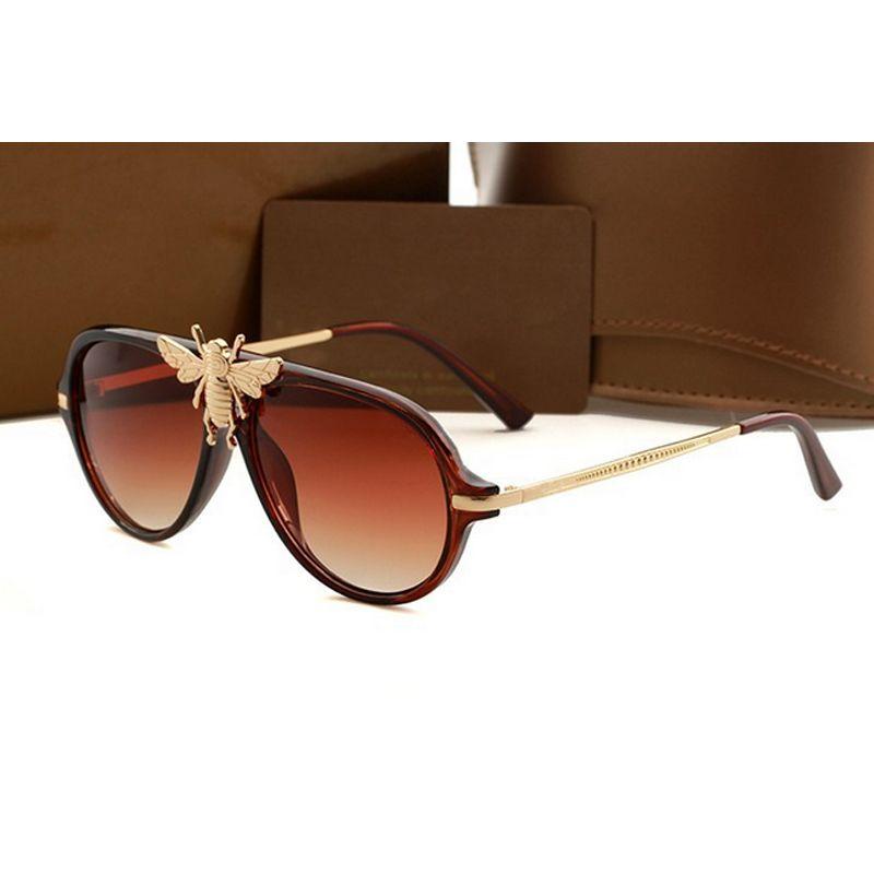 6e319885bf Luxury Brand Designer Bee Sunglasses Logo Brand UV400 Protection ...